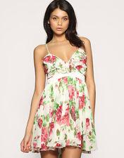 Lipsy Annie Rose Ruffle Frill Dress / Size XS