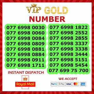 New Unique Easy Mobile Phone Number VIP Gold SIM Card Platinum Diamond Business