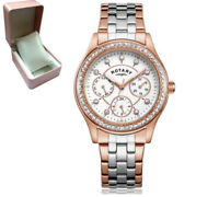 *REDUCED*  Rotary LB03897/01 Ladies' Rose Gold Silver Two Tone Multi Dial Watch