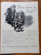 1941 Union Central Life Insurance Ad  Scotty Scottish Puppy Dog for Sale