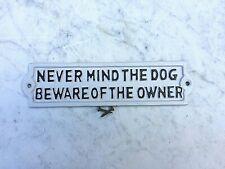 Estilo Antiguo ~ no importa el perro cuidado del propietario ~ de hierro fundido
