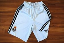 REAL MADRID HOME FOOTBALL SHORTS 2008-2009 ADIDAS WHITE SIZE ADULT S SMALL WHITE