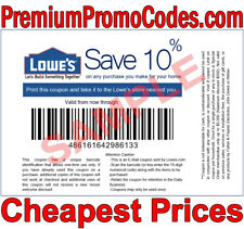 1x Lowes 10% Off Instore ONLY Coupon - Next Day Shipping - READ ITEM DESC