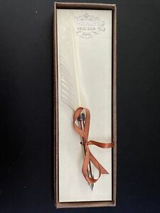 Calligraphy Set - Quill Pen (White) with Real Feather and Stainless Steel Nib