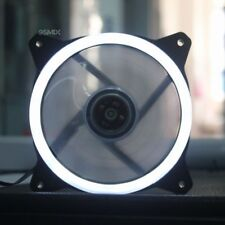 120mm White LED Cooling Fan 12V 4Pin to 3Pin RGB Computer Case Cooler