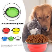 Folding Silicone Dog Bowl for Puppy Pet Cat Portable Travel Feeder Utensils