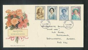 G3 HM Queen mother 90th birthday FDC Good cat val 2nd Aug 1990