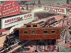 PRE-WAR AMERICAN FLYER LARGE METAL RED CABOOSE SHELL PARTS/RESTORATION KIT BASH