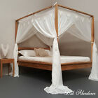 Queen Size Four Poster Bed Standard Buttonless Bed Canopy Mosquito Net Queen