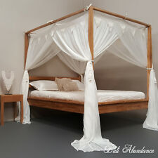 CANOPY Standard Buttonless  Mosquito King Size for Four Poster Bed 185 x 205cm