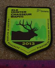 2013 ONTARIO MNR ELK HUNTING PATCH moose,bear,deer,hunter,canadian,patches,badge