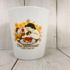 The Snowman 2011 S Ent Ltd Coffee Tea Cup Mug  Ceramic  White Boy Fruit No Hand