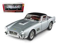 FERRARI 410 SUPERAMERICA SILVER 1:18 DIECAST MODEL CAR BY HOTWHEELS T6243