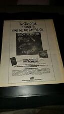 Twisted Sister Come Out And Play Rare Original Radio Promo Poster Ad Framed!