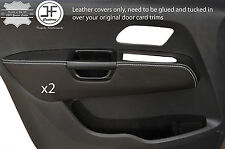 WHITE STITCH 2X FRONT DOOR ARMREST LEATHER COVERS FITS VW AMAROK 2010-2017