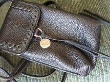 Rebecca Minkoff Small  Leather Feed Crossbody  BLACK Bag $245