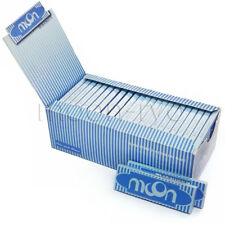 1 box 50 booklets Moon Blue Rice Cigarette Rolling Papers 70*36mm 2500 leaves