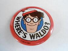 VINTAGE PINBACK BUTTON #75- 011 - WHERE'S WALDO