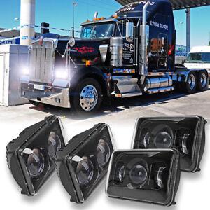 """For Kenworth W900 T600/800 C500 T600A Peterbilt 357 4PCS 60W 4x6"""" LED Headlights"""