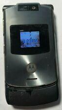 READ FIRST Motorola RAZR V3xx Gray (Unlocked) Cellular Phone Fair to Good Used