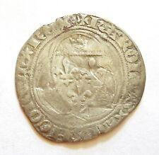 CHARLES VII  blanc à la couronne  TOURNAI