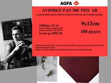 Agfa Aviphot Pan 200 aerial film 9x12cm, 100 sheets