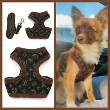 Designer Chihuahua Harness Coat + LEASH Puppy Dog XXXS XXS XS S M Small Breeds