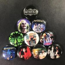 "Beetlejuice 1"" Button Pin Set Horror Comedy Tim Burton Michael Keaton spooky"