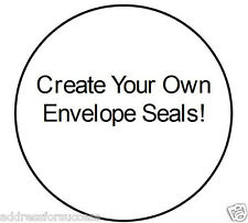 """63 Custom Made 1"""" Round Envelope Seals Add Your Own Photo!"""