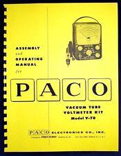 Paco V-70 V70 Vacuum Tube Voltmeter Kit Manual