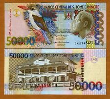 New listing St Thomas & Prince, 50,000 (50000) Dobras, 2004 P-68, Unc > Colorful