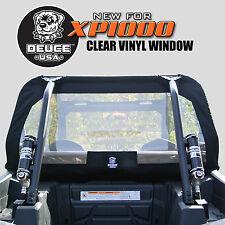 Deuce USA Polaris RZR 2014 XP1000 Rear Window Vinyl with 1680 Ballistic Nylon
