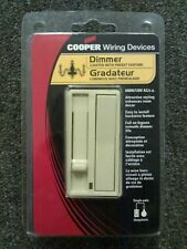 (10) COOPER Slide Dimmer 600W Preset Feature Ivory LED Switch Decorator 6430V