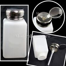 2PCS Empty Pump Dispenser Nail Art Acrylic Polish Remover Makeup Tool 180ML