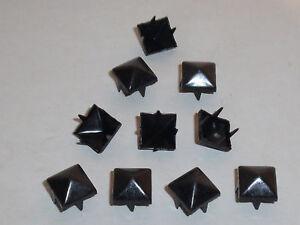 50 Stück Pyramidennieten  Pyramiden Nieten 9x9 mm schwarz NEUWARE rostfrei