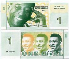 SOCCER FOOTBALL 1 GOAL 2016 PELE BRAZIL - Fantasy Banknote UNC