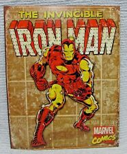 The Invincible Iron Man Marvel Comics 12x16 Tin Sign Retro Wall Panel FREE S/H