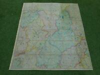 100% ORIGINAL LARGE NOTTS DERBY LEICS AREA FOLDING MAP  LINEN BY RICHMOND C1870