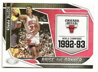 2019-20 PANINI CERTIFIED SCOTTIE PIPPEN RAISE THE BANNER INSERT CARD (BULLS)