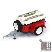 CB CUSTOM Gepäckanhänger 2.0 rot Trailer MOC aus LEGO® Steinen zB für 10220 T1