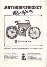 Motorhistoriskt Magasin Annon Swedish Car Magazine 8,1995 Husqvarna 032717nonDBE