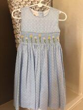 Laura Ashley girls  Blue White Polka Dot Size 6 Little Girls Dress