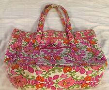 VERA BRADLEY LAP TOP TOTE BAG - Pink n Red Floral. Large Pre-Owned. Very Clean