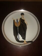 House of Erte Glamour Limited Edition Plate Franklin Mint W/Coa