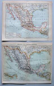 Mexico, Mexiko - Konvolut, Sammlung - 3 Karten 1895-1905 - Lithographie