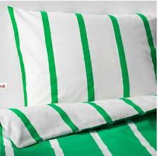 Ikea Tuvbracka King Duvet Set 4 Pillowcases, 240 X 220 cm Green & White New