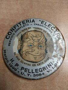 """Advertising Celluloid Pocket Mirror Confiteria """"Electra"""""""