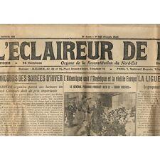 L'ÉCLAIREUR de L'EST 20 Octobre 1921 Général PERSHING et  Affaire MERTZ Pierrepo