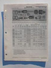 Delco-Remy Cranking Motor Service Parts Catalog United Motors GM 1949