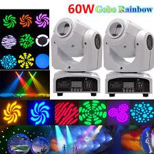2PCS 60W RGBW Gobos Spot LED Stage Light Moving Head DMX Disco DJ Party Lighting